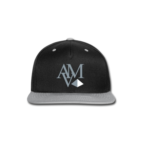 reflective silver & white print - Snap-back Baseball Cap