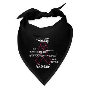 Reality Survival Tie-back bandana (white scripting) - Bandana