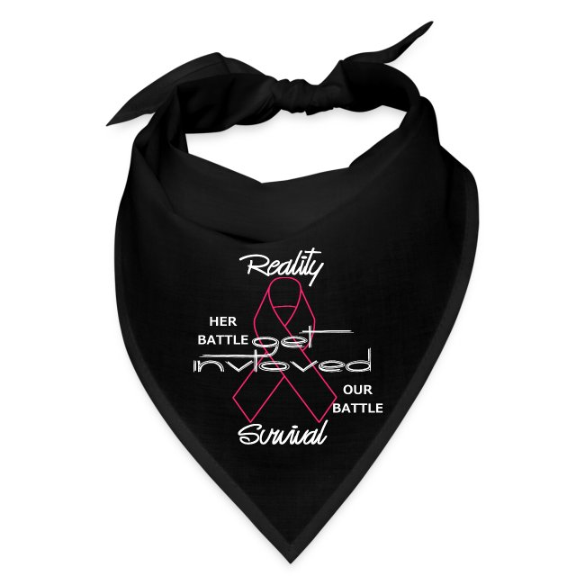 Reality Survival Tie-back bandana (white scripting)