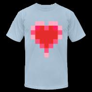 T-Shirts ~ Men's T-Shirt by American Apparel ~ 8 bit-o-heart
