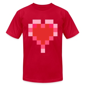 8 bit-o-heart - Men's T-Shirt by American Apparel