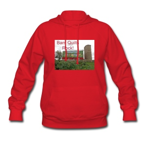 Barn Quilts Rock! Women's Hooded Sweatshirt - Women's Hoodie