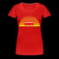 Women's T-Shirts ~ Women's Premium T-Shirt ~ Surfing sunset