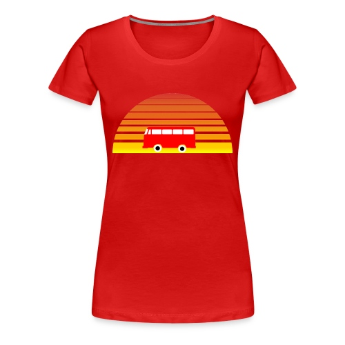 Surfing sunset - Women's Premium T-Shirt