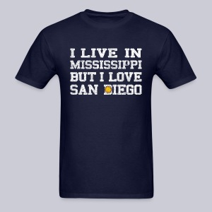 Live Mississippi Love San Diego - Men's T-Shirt