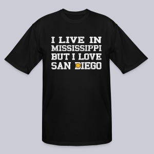 Live Mississippi Love San Diego - Men's Tall T-Shirt