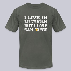 Live Michigan Love San Diego - Men's T-Shirt by American Apparel