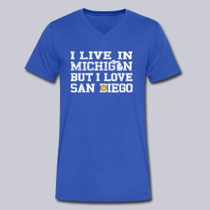 Live Michigan Love San Diego - Men's V-Neck T-Shirt by Canvas