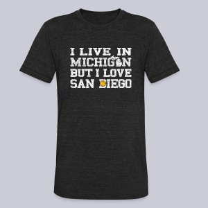 Live Michigan Love San Diego - Unisex Tri-Blend T-Shirt by American Apparel