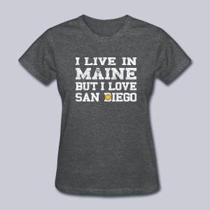 Live Maine Love San Diego - Women's T-Shirt