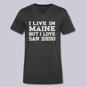 Live Maine Love San Diego - Men's V-Neck T-Shirt by Canvas
