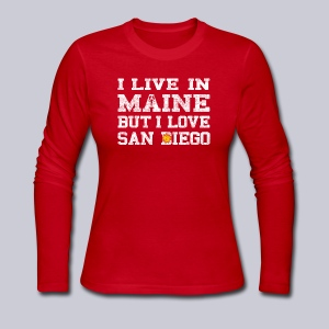 Live Maine Love San Diego - Women's Long Sleeve Jersey T-Shirt