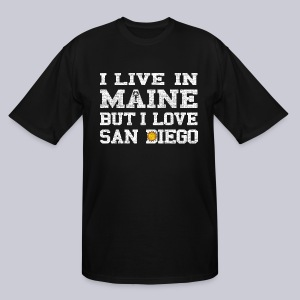 Live Maine Love San Diego - Men's Tall T-Shirt