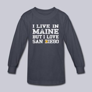 Live Maine Love San Diego - Kids' Long Sleeve T-Shirt