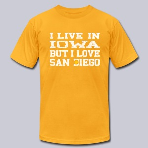 Live Iowa Love San Diego - Men's T-Shirt by American Apparel