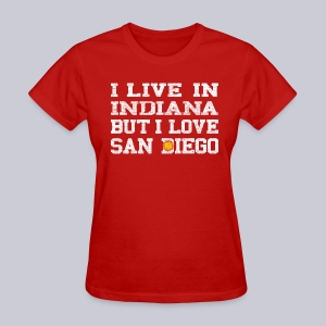 Live Indiana Love San Diego - Women's T-Shirt