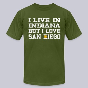 Live Indiana Love San Diego - Men's T-Shirt by American Apparel