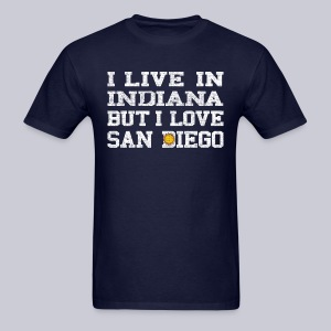 Live Indiana Love San Diego - Men's T-Shirt