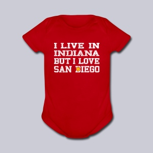 Live Indiana Love San Diego - Short Sleeve Baby Bodysuit
