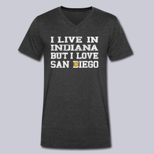 Live Indiana Love San Diego - Men's V-Neck T-Shirt by Canvas