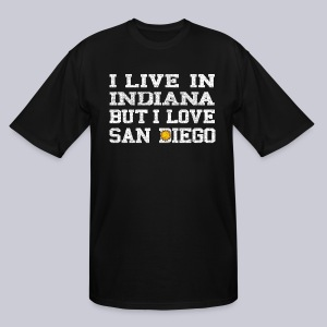 Live Indiana Love San Diego - Men's Tall T-Shirt