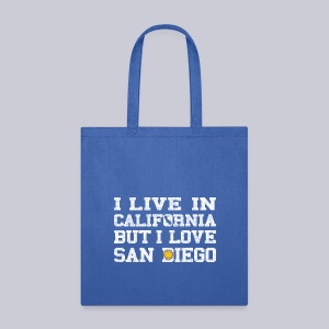 Live California Love San Diego - Tote Bag
