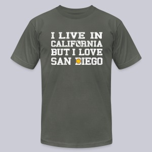 Live California Love San Diego - Men's T-Shirt by American Apparel