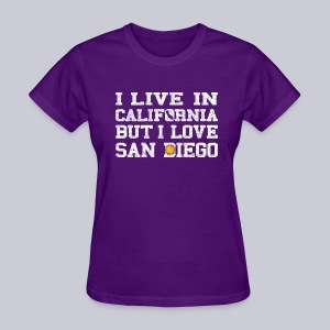 Live California Love San Diego - Women's T-Shirt
