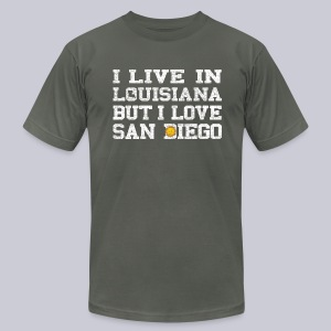 Live Louisiana Love San Diego - Men's T-Shirt by American Apparel