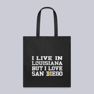 Live Louisiana Love San Diego - Tote Bag