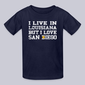 Live Louisiana Love San Diego - Kids' T-Shirt