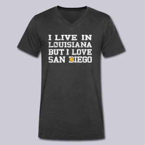 Live Louisiana Love San Diego - Men's V-Neck T-Shirt by Canvas