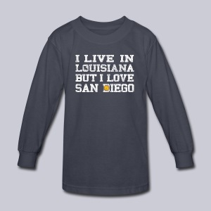 Live Louisiana Love San Diego - Kids' Long Sleeve T-Shirt