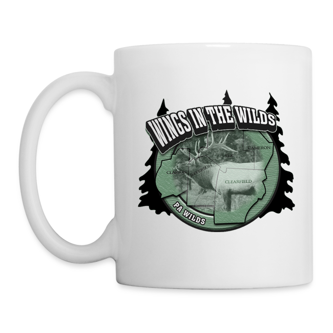 Coffee/Tea Mug Wings in Wild one side