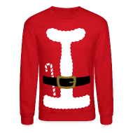 Long Sleeve Shirts ~ Crewneck Sweatshirt ~ SANTA CLAUS SUIT - Men's' Sweatshirt
