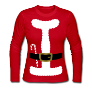 Long Sleeve Shirts ~ Women's Long Sleeve Jersey T-Shirt ~ SANTA CLAUS SUIT - Women's Long-Sleeve
