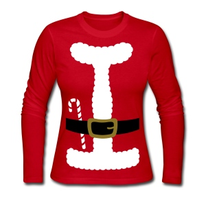 SANTA CLAUS SUIT - Women's Long-Sleeve - Women's Long Sleeve Jersey T-Shirt