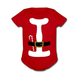 SANTA CLAUS SUIT - Baby One-Piece - Short Sleeve Baby Bodysuit