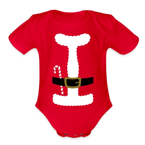 SANTA CLAUS SUIT - Baby One-Piece - Organic Short Sleeve Baby Bodysuit