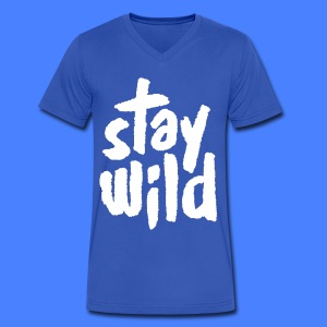 Stay Wild T-Shirts - Men's V-Neck T-Shirt by Canvas