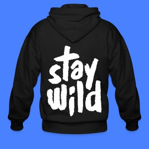 Stay Wild Zip Hoodies & Jackets - Men's Zip Hoodie