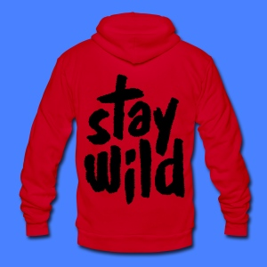 Stay Wild Zip Hoodies & Jackets - Unisex Fleece Zip Hoodie by American Apparel