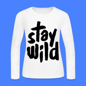 Stay Wild Long Sleeve Shirts - Women's Long Sleeve Jersey T-Shirt