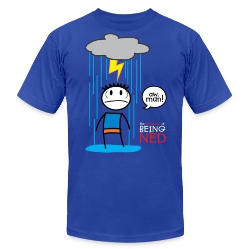 Rain Cloud Ned American Apparel T-Shirt - Men's Fine Jersey T-Shirt