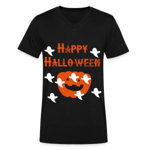 Happy Halloween - Men's V-Neck T-Shirt by Canvas