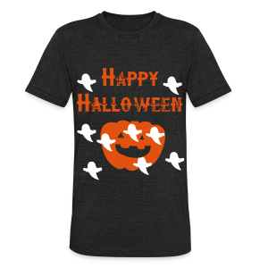 Happy Halloween - Unisex Tri-Blend T-Shirt by American Apparel