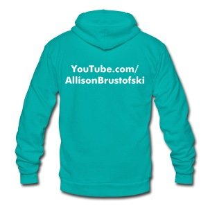 dreamBIG Unisex Zip Sweatshirt - Unisex Fleece Zip Hoodie by American Apparel