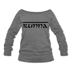 Runna Wide neck sweatshirt - Women's Wideneck Sweatshirt