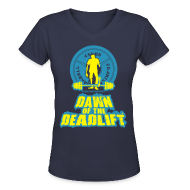 Women's T-Shirts ~ Women's V-Neck T-Shirt ~ Dawn of The Deadlift V-Neck