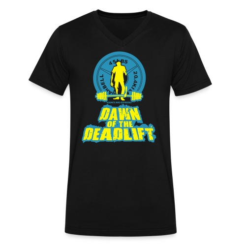Dawn of The Deadlift V-Neck - Men's V-Neck T-Shirt by Canvas